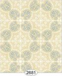 Wallpaper Rose Hill Tile Blue on Cream