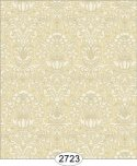 Wallpaper - Annabelle Mini Damask Yellow Gold