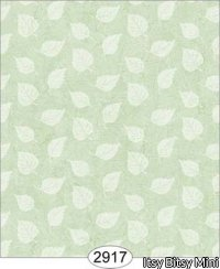 Wallpaper Birch Leaf Silhouette Green Lime