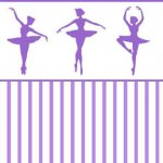 Wallpaper - Ballerina Silhouette Purple - Stripe