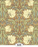 Wallpaper - Victorian Tulips - Brown