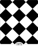 Wallpaper - Tile - Black and White Diamond - 0.5 inch
