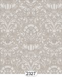 Wallpaper - Annabelle Damask Grey Silver