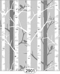 Wallpaper Birch Tree Grey