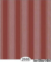 Wallpaper Rose Hill Stripe Red