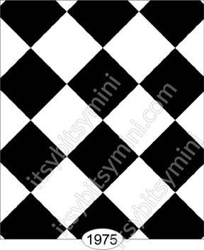 Wallpaper Tile Black And White Diamond 0 5 Inch Wal1975 0 00 Itsy Bitsy Mini Wholesale Retail Dollhouse Wallpaper Accessories