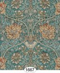 Wallpaper - Hamilton - Blue Teal