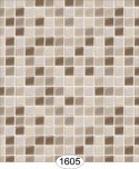 Wallpaper - Mosaic Tile - Beige and Brown