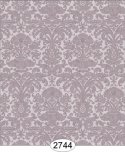 Wallpaper - Annabelle Mini Reverse Damask Purple Plum