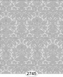 Wallpaper - Annabelle Mini Reverse Damask Grey Dark