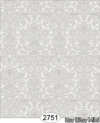 Wallpaper - Annabelle Mini Reverse Damask Grey Silver