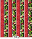 Wallpaper - Christmas Holly Stripe