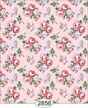 Wallpaper - Cottage Chic - Bouquet on Pink
