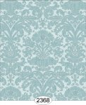 Wallpaper - Annabelle Reverse Damask Blue Opal