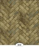 Wallpaper - Herringbone Brick - Grey