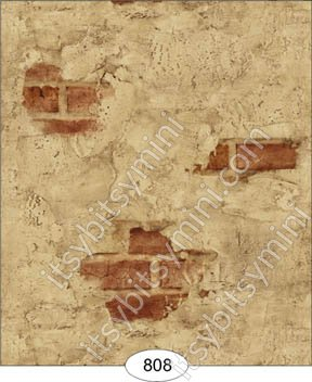 Wallpaper - Weathered Plaster - Red - Click Image to Close