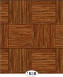 Wallpaper - Grasscloth Parquet Tile - Brown