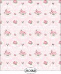 Wallpaper - Daniella Floral Damask - Pink No Border