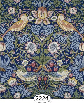 Wallpaper - Victorian - Strawberry Birds - Click Image to Close