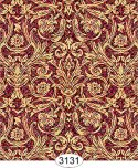 Wallpaper - Festive Damask Gold on Red