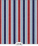 Wallpaper - Sailboat Stripe - Red