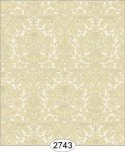 Wallpaper - Annabelle Mini Reverse Damask Yellow Gold