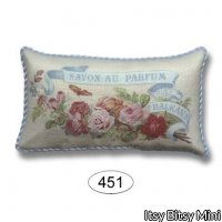 Pillow - Perfume Label - Rose 1