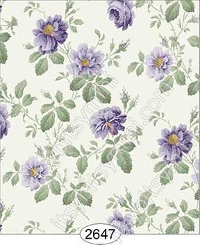 Wallpaper Rose Hill Floral Purple - Click Image to Close