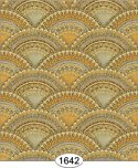 Wallpaper - Jeweled Seashell - Yellow Gold