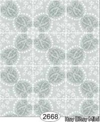 Wallpaper Rose Hill Tile Blue Aqua