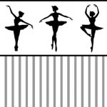 Wallpaper - Ballerina Silhouette Black - Check