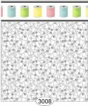 Wallpaper Sew Perfect Pins Grey