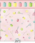 Wallpaper Sew Perfect Notions Pink Light