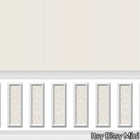 Wallpaper - Ethereal Wainscot Beige Narrow