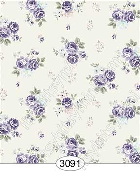 Wallpaper Rose Hill Small Floral Purple - Click Image to Close
