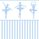 Wallpaper - Ballerina Silhouette Blue - Stripe