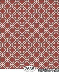 Wallpaper Rose Hill Trellis Red