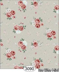Wallpaper Rose Hill Small Floral Red