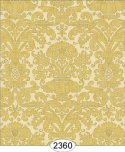 Wallpaper - Annabelle Reverse Damask Yellow Gold