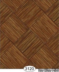 Wallpaper - Grasscloth Parquet Tile Bias - Brown