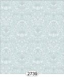 Wallpaper - Annabelle Mini Damask Blue Opal