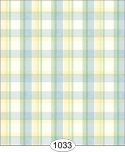 Wallpaper - Spring Plaid - Blue and Yellow and Green