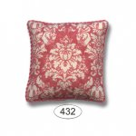 Pillow - French Damask - Red Coral