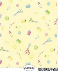 Wallpaper Sew Perfect Notions Yellow No Border