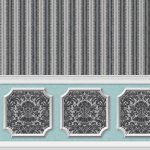 Wallpaper - Annabelle Wainscot Mural Black Variation 3