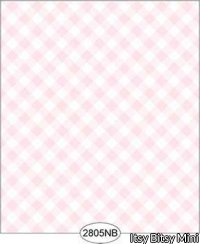 Wallpaper - Daniella Plaid - Pink No Border