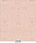 Wallpaper - Annabelle Damask Pink Quartz with Cream