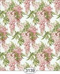 Jolie Pink Wisteria Floral Dollhouse Wallpaper
