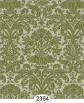 Wallpaper - Annabelle Reverse Damask Green Olive