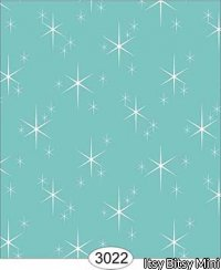 Wallpaper Retro Twinkling Stars Blue